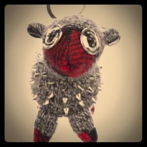 Burberry Wendy Sheep Beast Keyring in Dark Grey